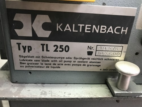 Circular saw/automatic KALTENBACH TL 250 photo on Industry-Pilot
