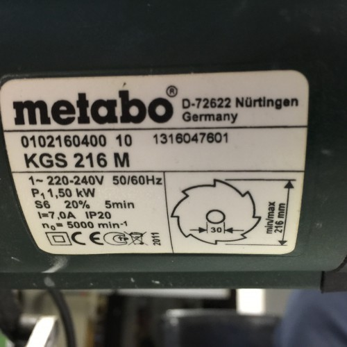 Circular saw/automatic METABO KGS 216 M photo on Industry-Pilot