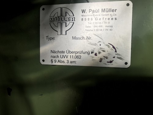 Eccentric Press - Single Column MÜLLER EXP 60 SW photo on Industry-Pilot