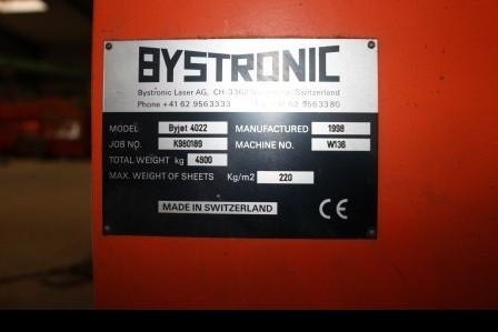 Станок гидроабразивной резки BYSTRONIC Byjett 4022 фото на Industry-Pilot