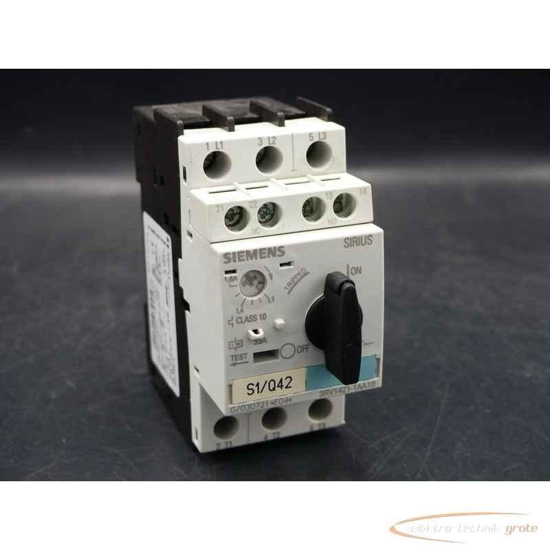 Siemens Siemens 3RV1421-1AA10 Leistungsschalter 33A mit 3RV1901-1E Hilfsschalter фото на Industry-Pilot