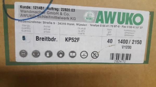 Schleifbänder 1400 x 2150 mm, K 40, AWUKO photo on Industry-Pilot
