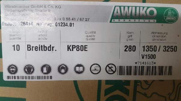 Schleifbänder 1350x3250 mm, K 280- Sonderpreis фото на Industry-Pilot