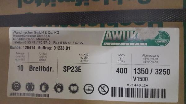 Schleifbänder 1350x3250 mm, K 400 AWUKO  photo on Industry-Pilot