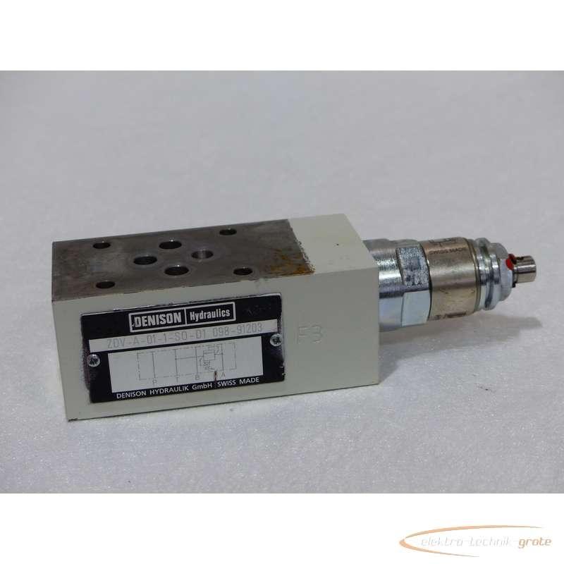 Гидравлический клапан Denison ZDV-A-01-1-S0-D1 098-91203 фото на Industry-Pilot