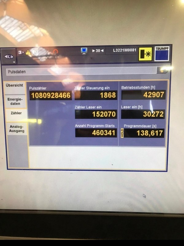 Laser Cutting Machine TRUMPF TruLaser 5030 fiber (L41) 5KW photo on Industry-Pilot