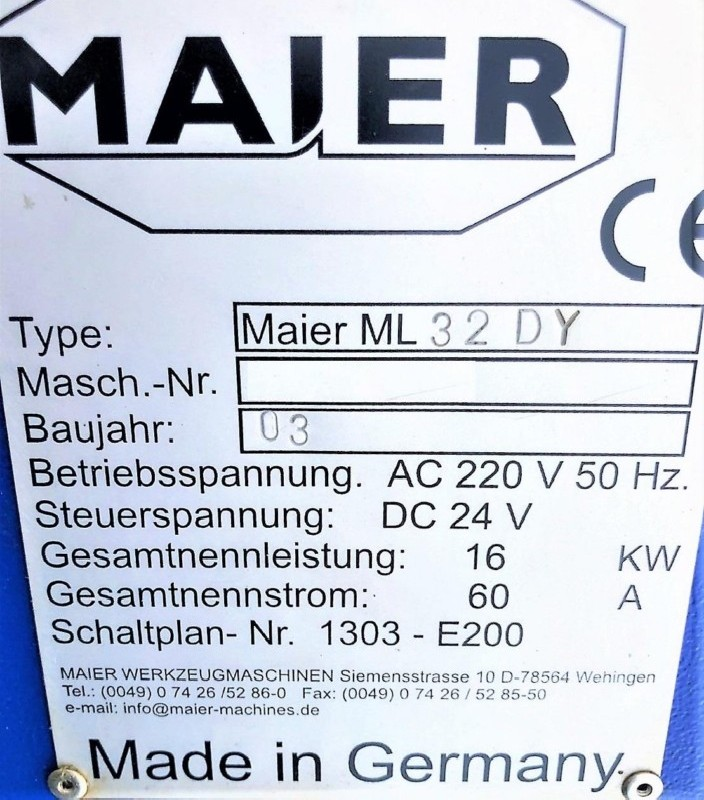 Automatic profile Lathe - Longitudinal MAIER ML32 D Y2 фото на Industry-Pilot