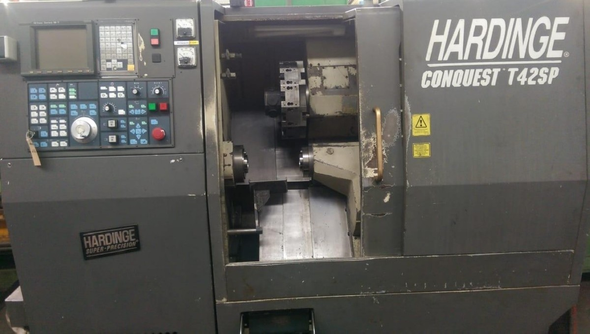 CNC Turning Machine - Inclined Bed Type HARDINGE CONQUEST T 42 SP photo on Industry-Pilot