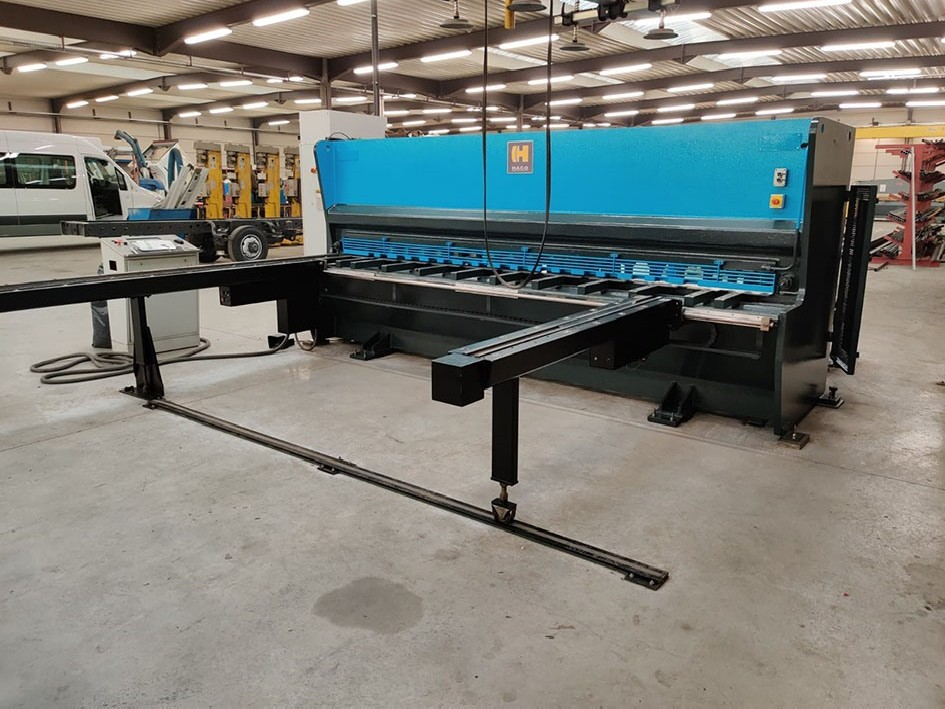 Hydraulic guillotine shear  Haco PSX 4100 x 6 mm CNC photo on Industry-Pilot