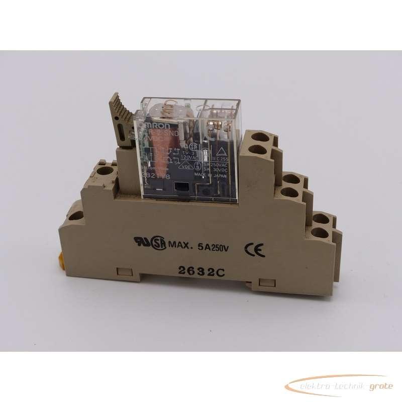 Omron Omron  G2R-2-SND Relais 24 VDC 2821Y8 auf Relaissockel 2632C