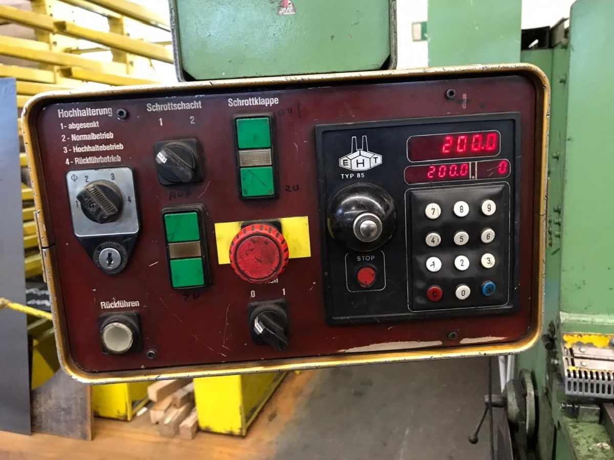 Hydraulic guillotine shear  EHT TSS 6-31 photo on Industry-Pilot