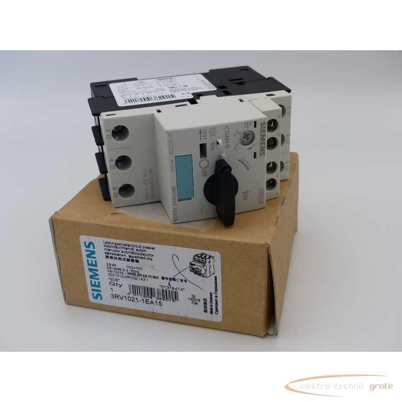 Siemens  3RV1021-1EA15 Leistungsschalter 3RV1901-1E ungebraucht!  photo on Industry-Pilot