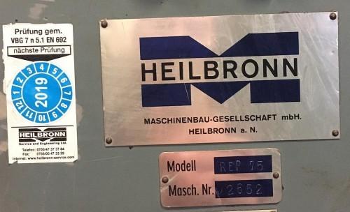 Эксцентриковый пресс - одностоечный HEILBRONN REP 75 фото на Industry-Pilot