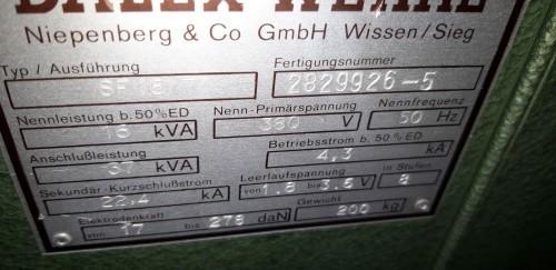 Точечная сварочная машина DALEX SF 16/71 111626 фото на Industry-Pilot
