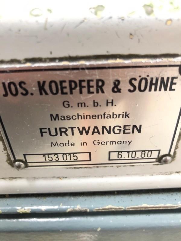 Зубофрезерный станок обкатного типа - гориз. KOEPFER 153 B 80 mm фото на Industry-Pilot