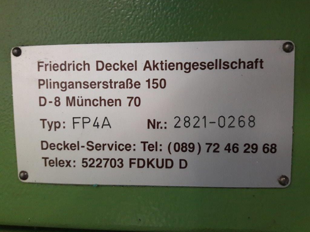 Milling Machine - Universal DECKEL FP 4A photo on Industry-Pilot