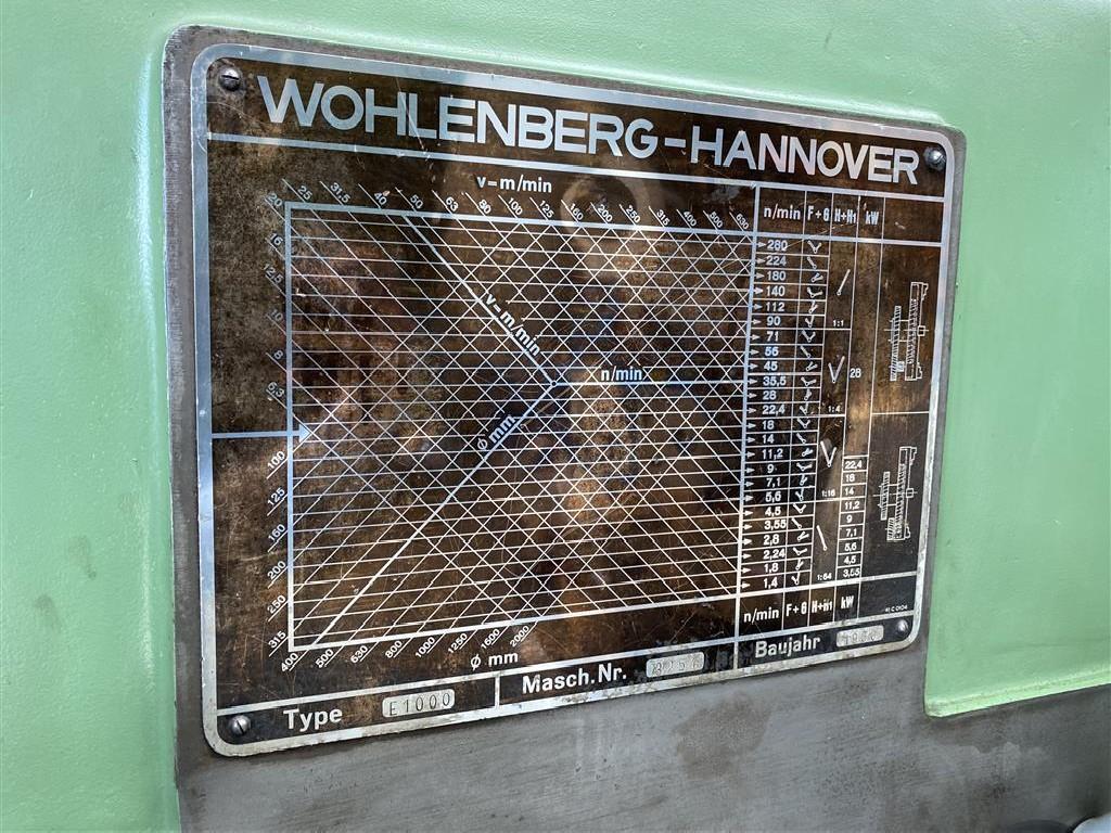 Тяжёлый токарный станок VDF WOHLENBERG E1000 фото на Industry-Pilot