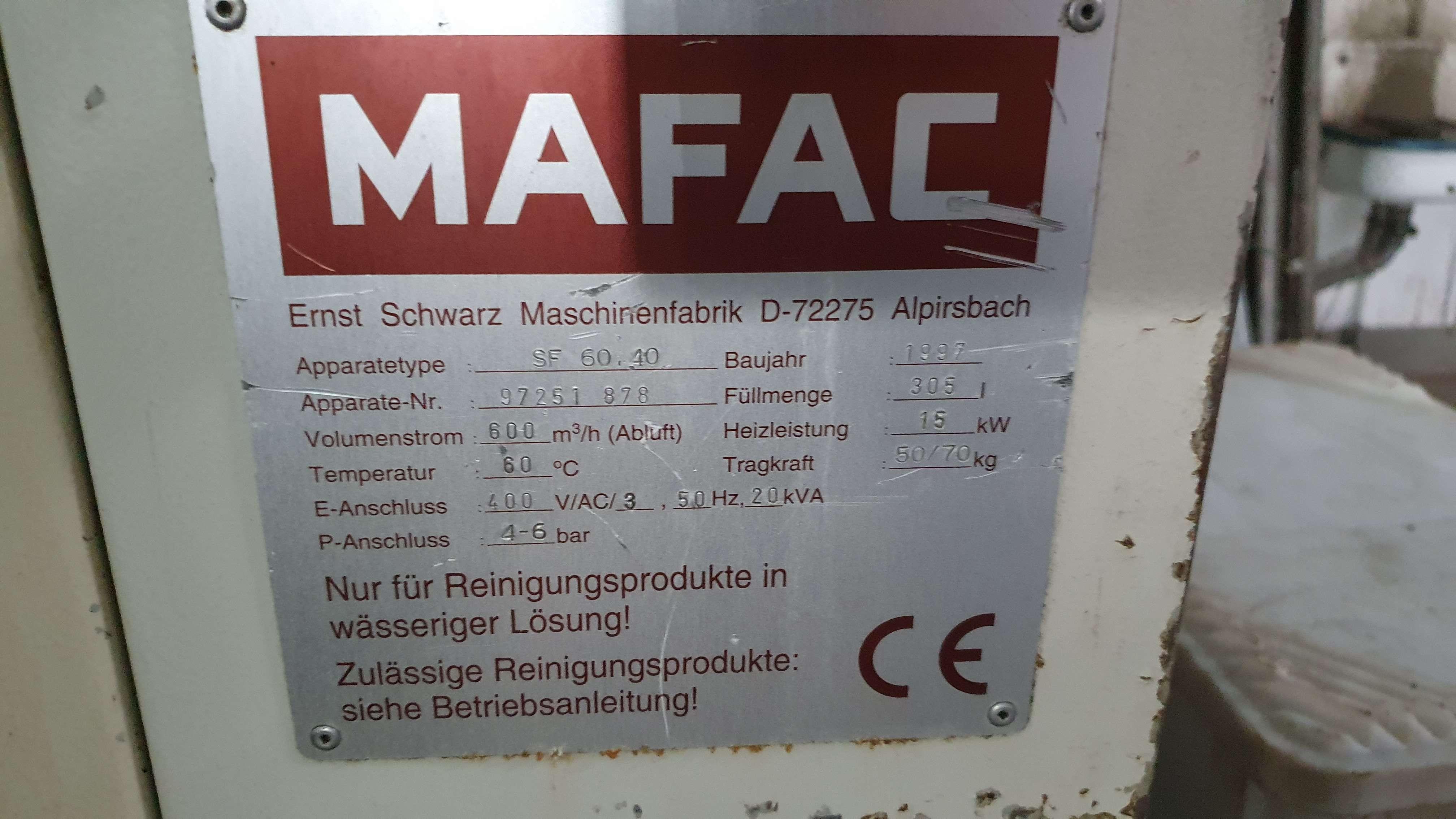 MAFAC SF 60.40 фото на Industry-Pilot