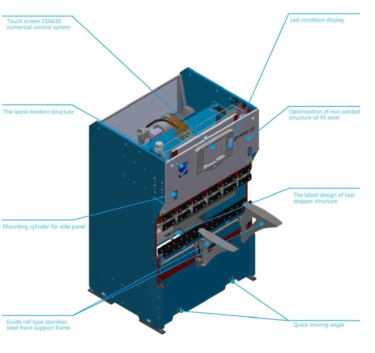 Листогибочный пресс - гидравлический LAG / Gasparini Mini-GP 25-1250 фото на Industry-Pilot