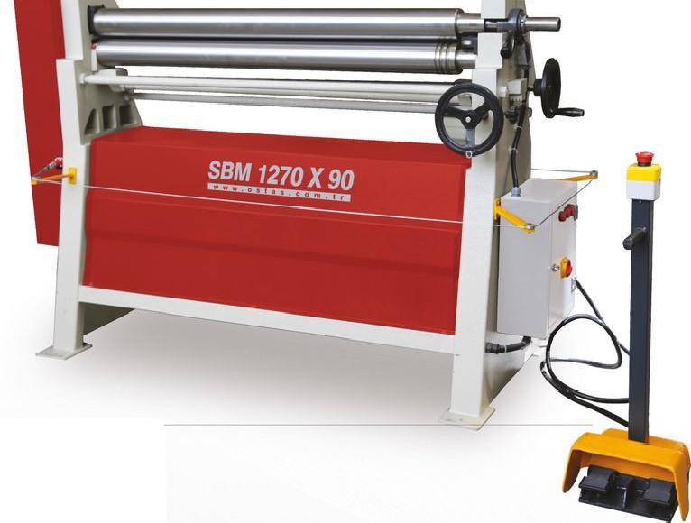 3-вальц. листогибочная машина OSTAS SBM 1270 x 90 фото на Industry-Pilot
