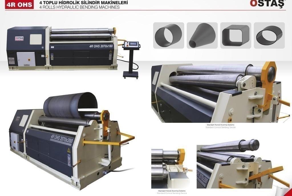 4-вальц. листогибочная машина OSTAS 4R OHS 2070 x 16/20 фото на Industry-Pilot