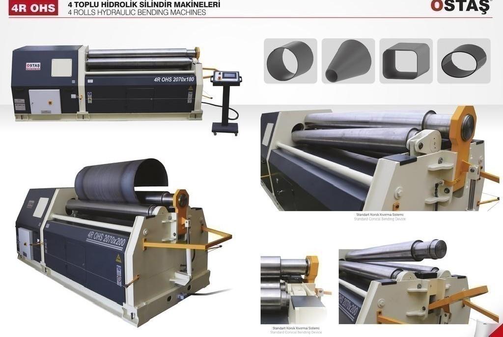 4-вальц. листогибочная машина OSTAS 4R OHS 2570 x 20/25 фото на Industry-Pilot