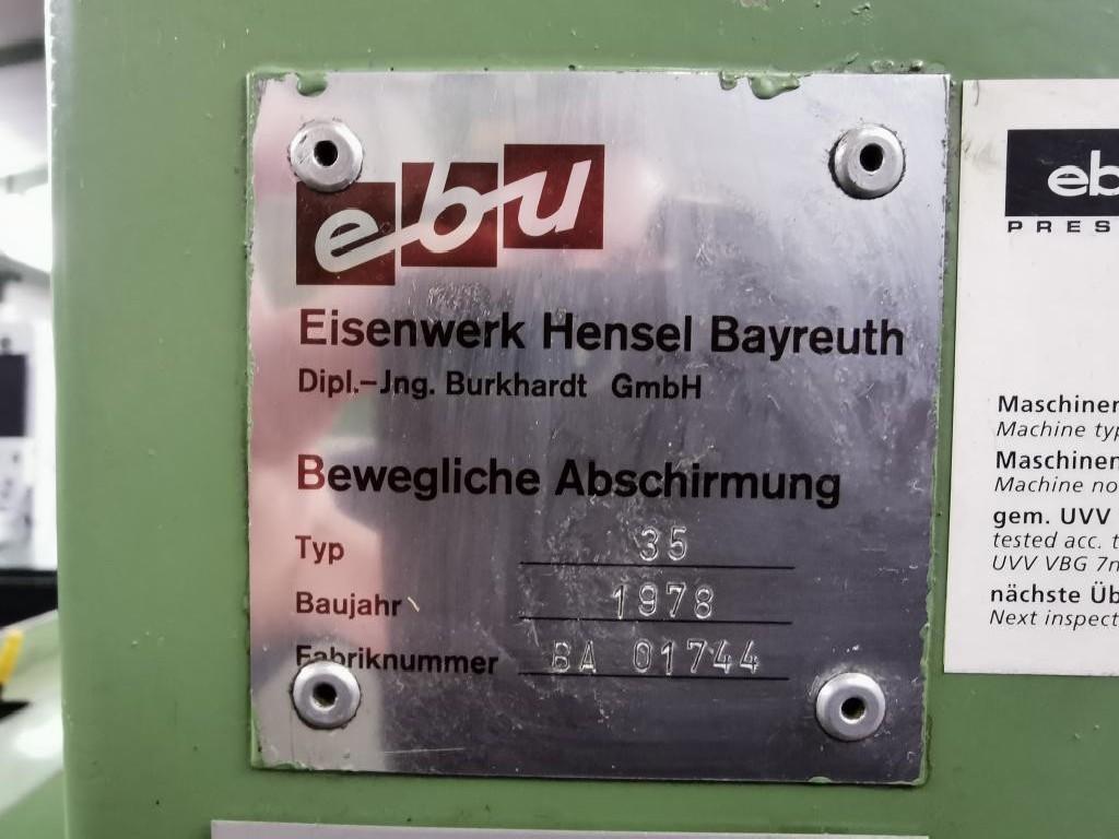 Эксцентриковый пресс - одностоечный EBU 35 фото на Industry-Pilot