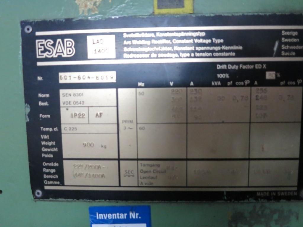 Сварочный трансформатор ESAB LAD 1400 A фото на Industry-Pilot