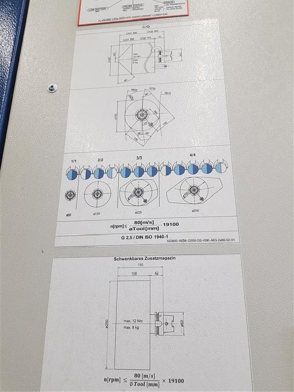 Обрабатывающий центр - универсальный GROB G550 Siemens 840d 800x1200x1200 фото на Industry-Pilot