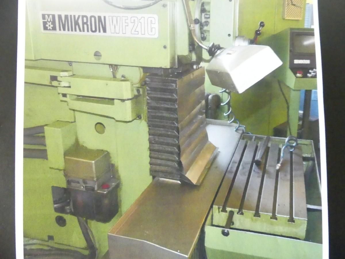 Инструментальный фрезерный станок - универс. MIKRON WF 21 C фото на Industry-Pilot