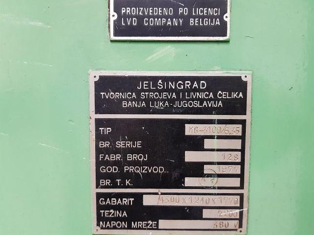 Гидравлические гильотинные ножницы JELSINGRAD MG 3100/6,35  фото на Industry-Pilot