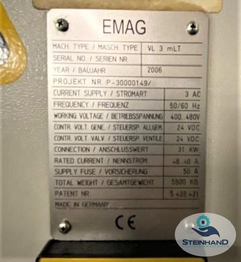 Вертикальный токарный станок EMAG VL 3 mLT фото на Industry-Pilot