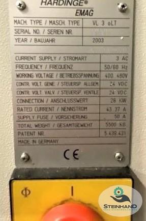 Вертикальный токарный станок EMAG VL 3 oLT 2003 фото на Industry-Pilot