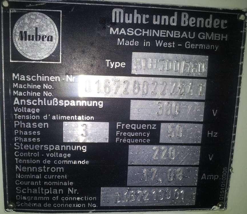Дыропробивные прессы Mubea KLH 700 mit CNC Tisch фото на Industry-Pilot
