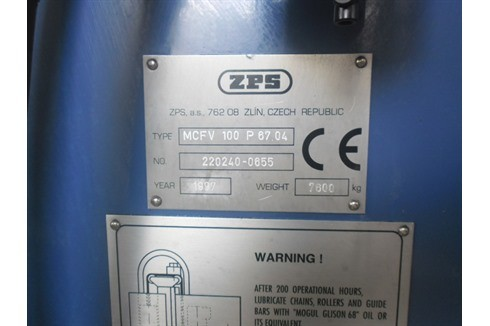 Machining Center - Vertical Z.P.S. - MCFV 100 P 67.04 photo on Industry-Pilot