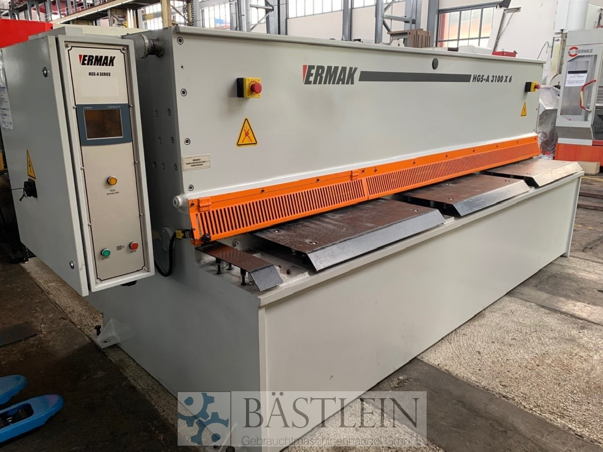 Hydraulic guillotine shear  ERMAK CNC HGS-A 3100x6 photo on Industry-Pilot