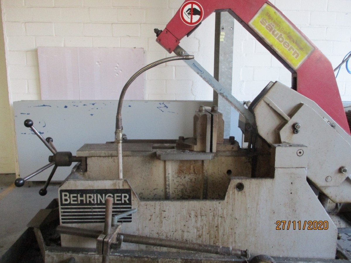 Hacksaws cutting BEHRINGER KS 280 HY photo on Industry-Pilot