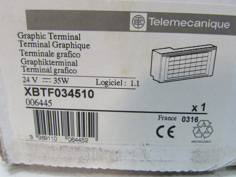 Bedienpanel  Telemecanique Modicon XBT 034510 XBT034510 Graphic Terminal UNUSED OVP Bilder auf Industry-Pilot