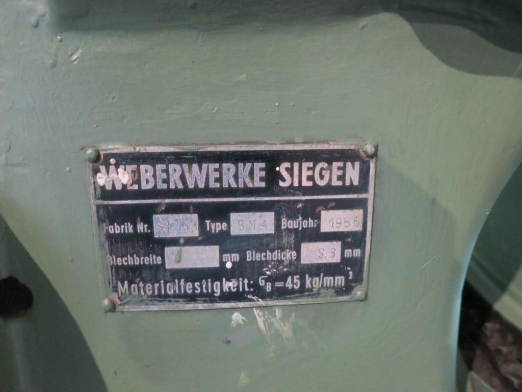 Роликовая листогибочная машина WEBER WERKE SIEGEN BM 4 фото на Industry-Pilot