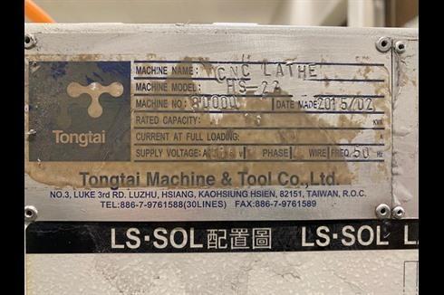 Токарный станок с ЧПУ Tongtai HS-22 фото на Industry-Pilot