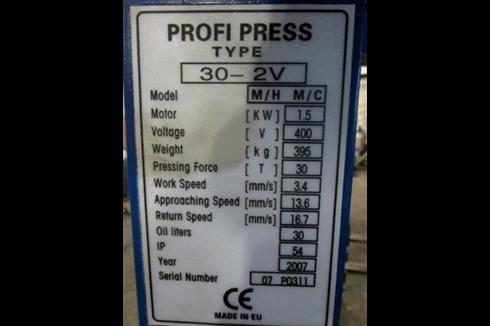 Tryout Press - hydraulic Profi Press 30-2V фото на Industry-Pilot