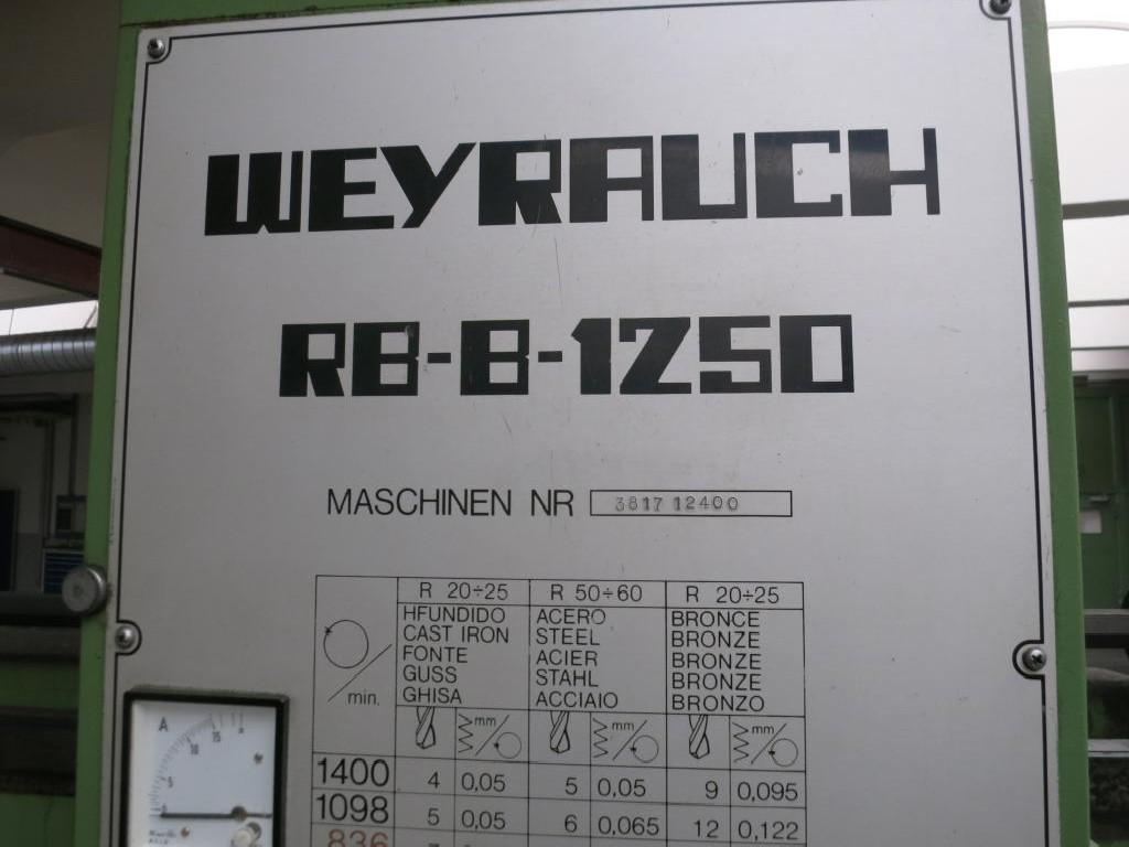 Радиально-сверлильный станок WEYRAUCH RB-B 1250 фото на Industry-Pilot