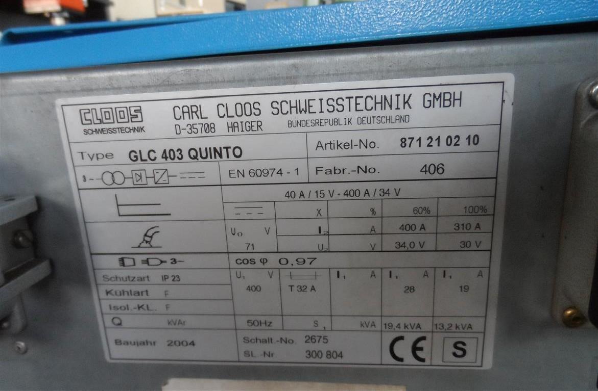 Сварочная установка Carl Cloos GLC 403 Quinto фото на Industry-Pilot