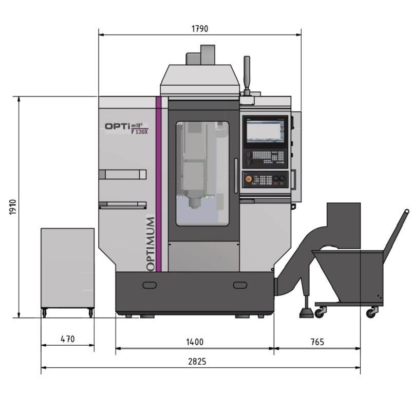 Machining Center - Universal OPTIMUM OPTImill F 120 X photo on Industry-Pilot