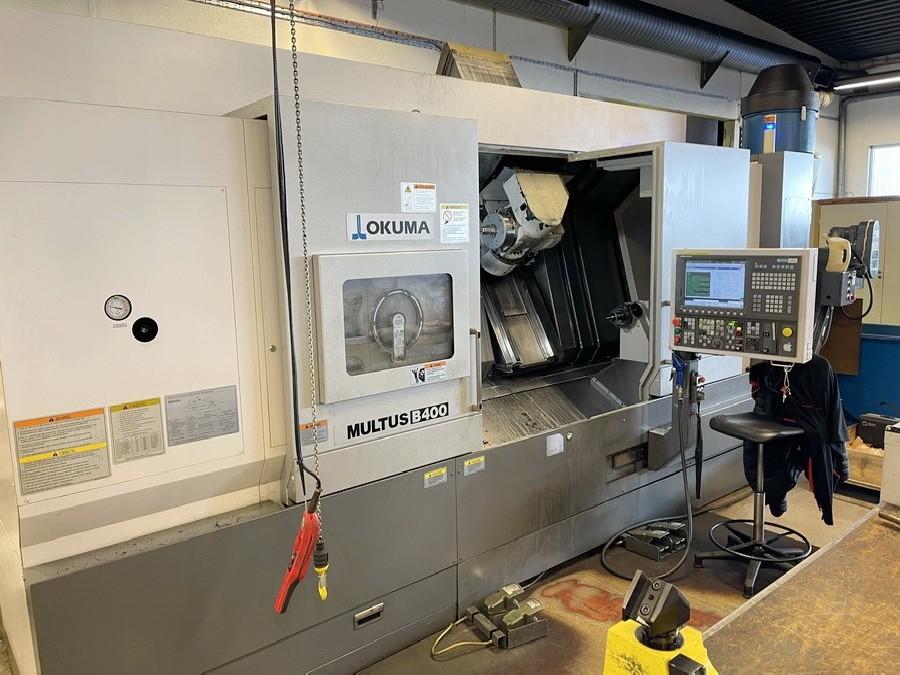 CNC Turning and Milling Machine OKUMA Multus B 400 C 1500 BigBore Frässpindel photo on Industry-Pilot