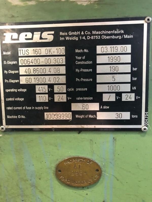 Гидравлический пресс REIS TUS160 фото на Industry-Pilot