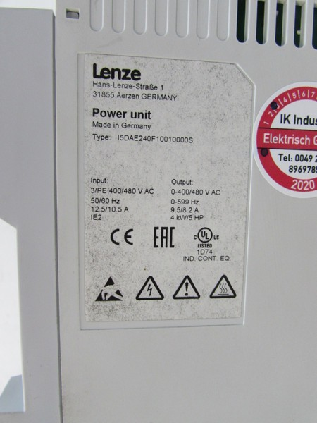 Frequenzumrichter Lenze I5DAE240F10010000S Power Unit 400V 4,0kw TESTED NEUWERTIG Bilder auf Industry-Pilot