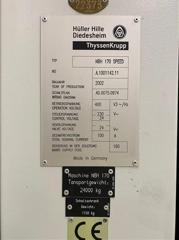 Machining Center - Horizontal HÜLLER-HILLE NBH 170 SPEED 840D CNC photo on Industry-Pilot