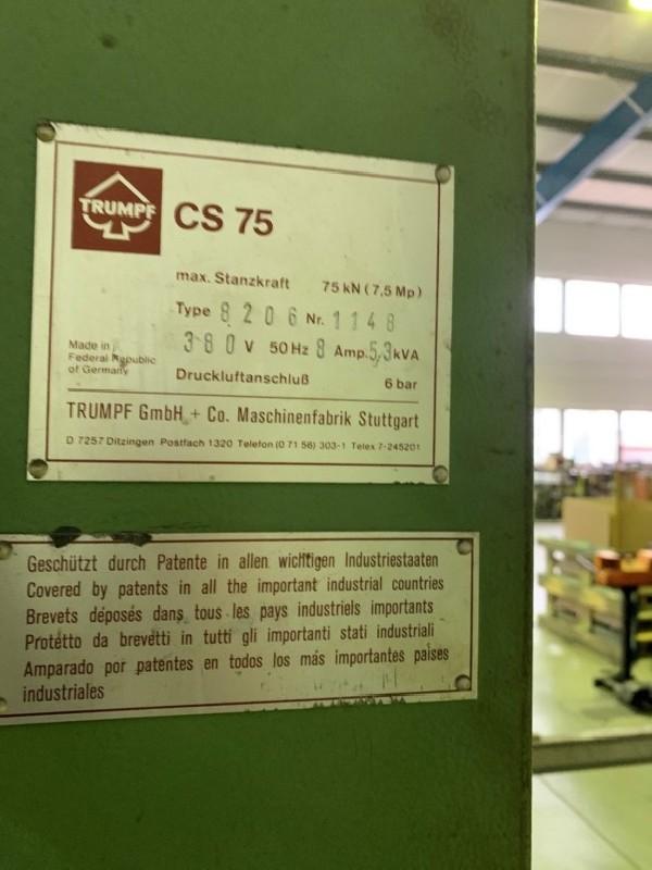 Координатно-пробивной пресс TRUMPF CS 75 Typ 8206 фото на Industry-Pilot