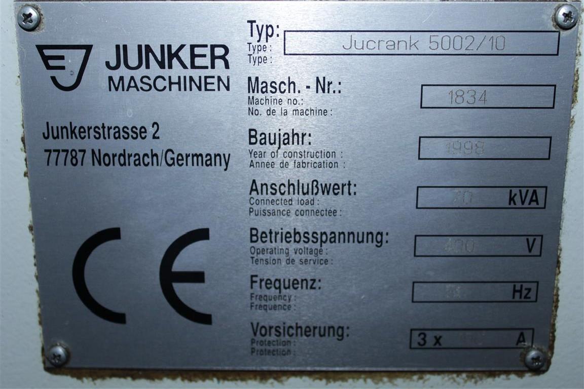 Станок для шлифования коленчатых валов JUNKER Jucrank 5002/10 фото на Industry-Pilot